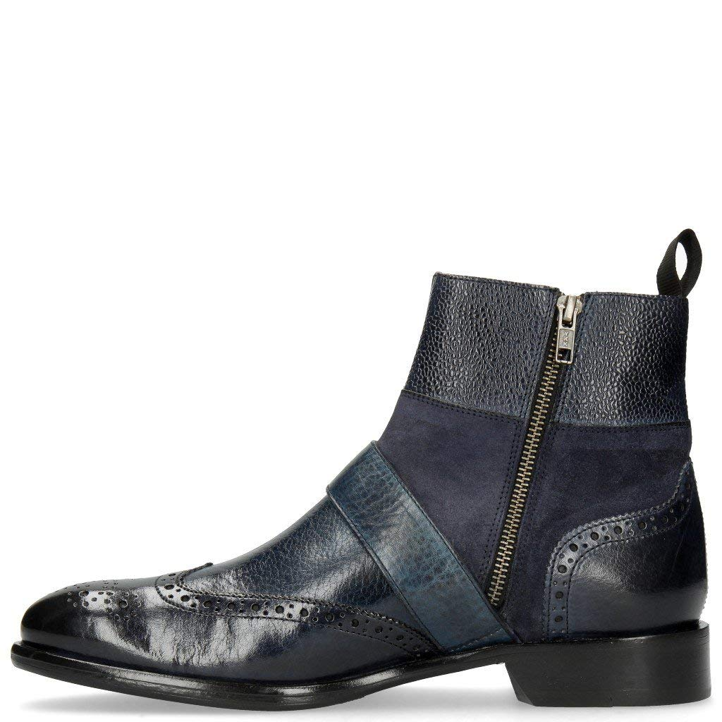 MELVIN & & & HAMILTON MH HAND MADE schuhe OF CLASS Patrick 12 Navy Lima Night Blau Scotch 802a25