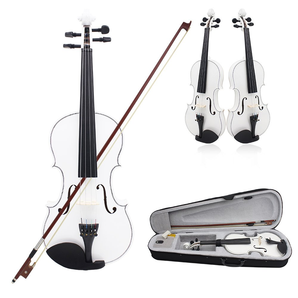 ammoon 4/4 Violin Fiddle Basswood Steel String Arbor Bow Stringed Instrument for Music Lovers Beginners