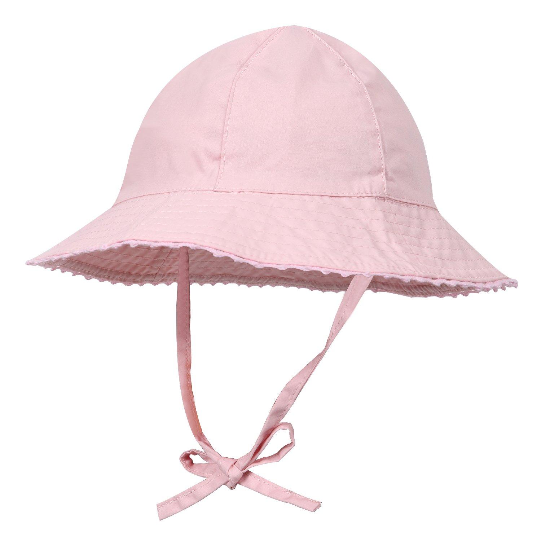 CANSHOW Sombrero Sol Para Niñas, Sombrero de Visera de Algodón de Verano(2-3 años de edad)
