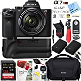 Sony a7R III 42.4MP Full-frame Mirrorless Interchangeable Lens Camera Body w/ Sony FE 28-70mm F3.5-5.6 OSS Full Frame E-Mount Lens + 128GB Battery Grip and Memory Bundle