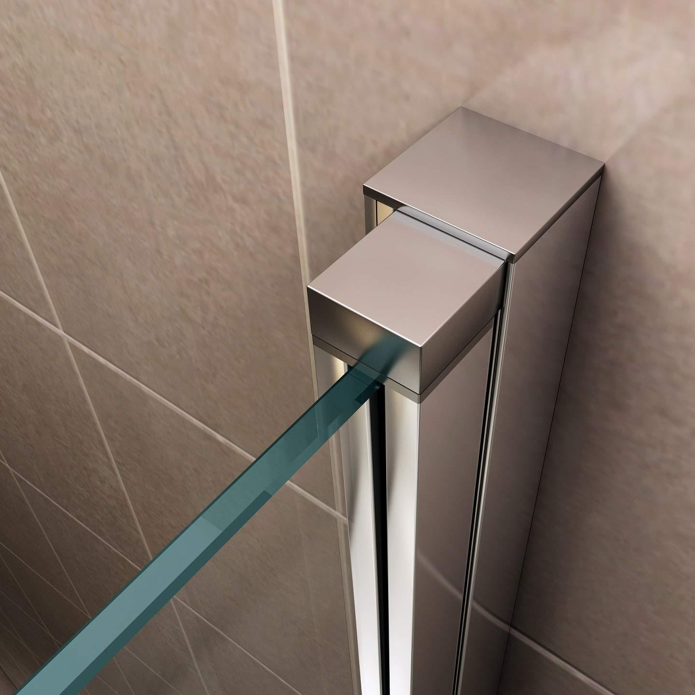 i-flair Duscht/ür 77x185 cm Verstellbereich von 77-80 cm Duschabtrennung aus 6 mm durchsichtigem ESG Sicherheitsglas mit Nanobeschichtung NC H/öhe: 185 cm