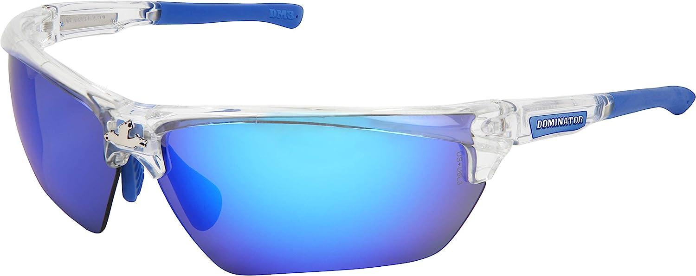 MCR Safety DM1337B Dominator DM3 Safety Glasses with Black Mirror and Black Frame