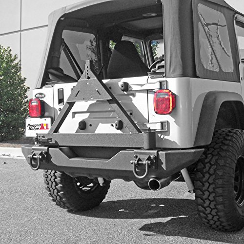 - Rugged Ridge 11546.42 Black Tire Carrier Add-On for XHD Rear Bumper