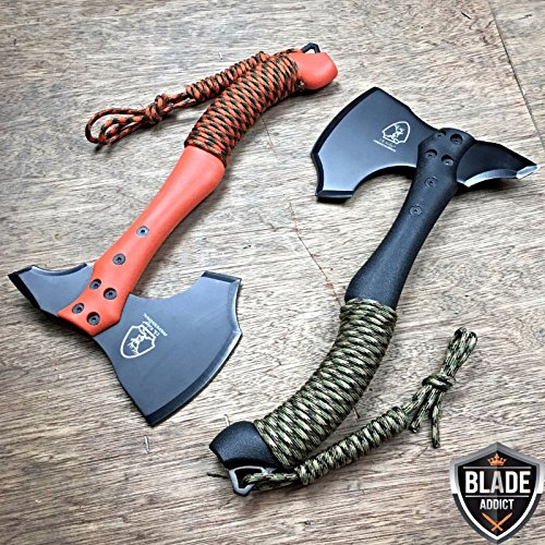 2PC 12 SURVIVAL G'STORE TOMAHAWK TACTICAL THROWING AXE w SHEATH BATTLE Hatchet Knife