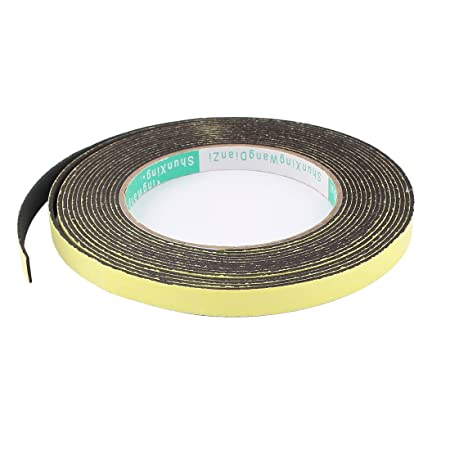 5m White Foam Draught Excluder Tape Single Sided 10mm Wide x 3mm Thick
