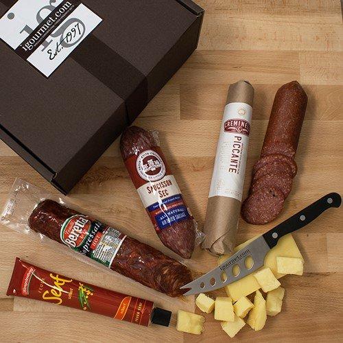 [Ultimate Salami Collection in Gift Box (5.2 pound)] (Black Kassel Salami)