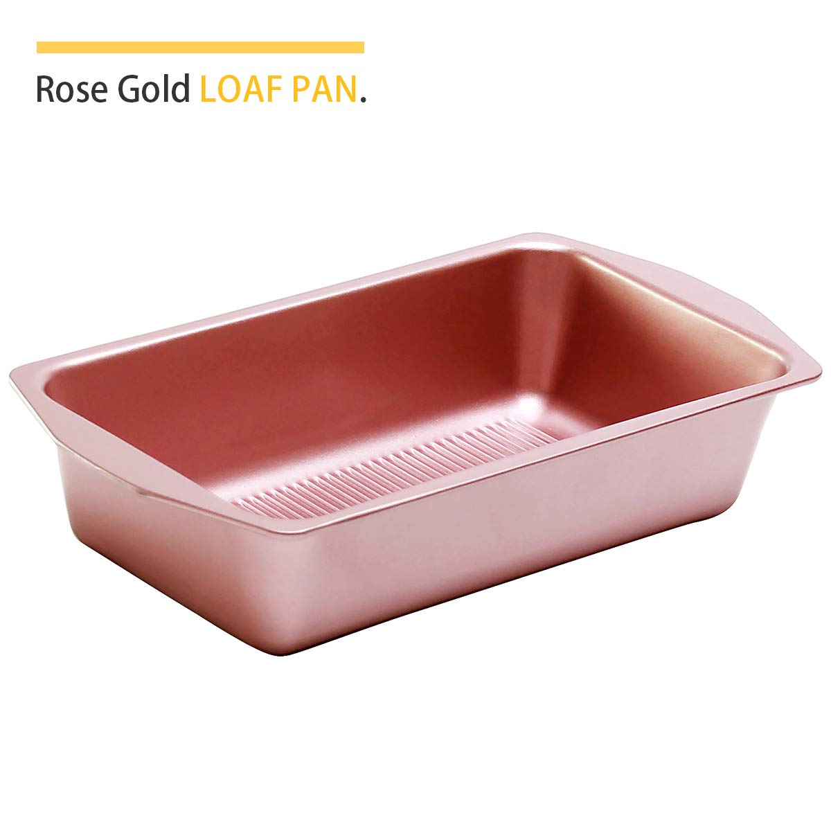 Bakeware Set, TOPTIER 6 Piece Nonstick Baking Pan Sets with Cookie Baking Sheets, Muffin Pan, Loaf Pan, Round Cake Pan, Roasting Pan for Baking | Prime Housewarming & Wedding Gift, Rose Gold by toptier (Image #4)