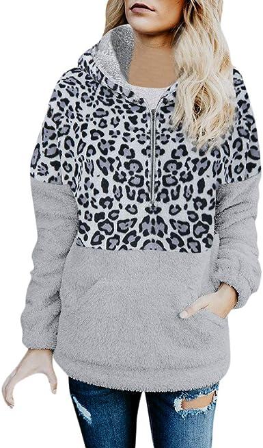 Yezijin Women Hooded Sweater Long Sleeve Printed Pullovers Sweatshirts Casual Lady Tops Plush Sweatshirts for Women