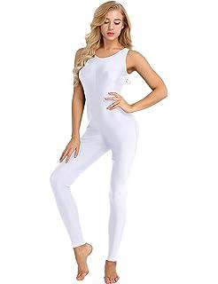 157bbfb0ad4 Alvivi Women Sleeveless Active Tank Unitard One Piece Soft Stretch Yoga  Dance Leotard Bodysuit