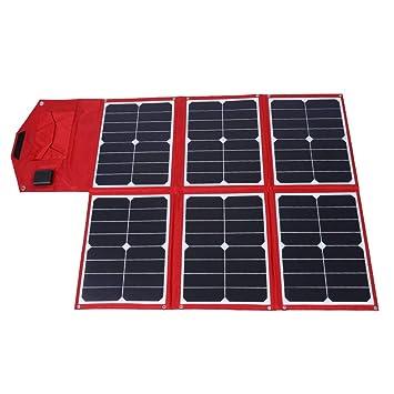 Focket Panel Solar Plegable, 16V 90W Cargador Solar portátil ...