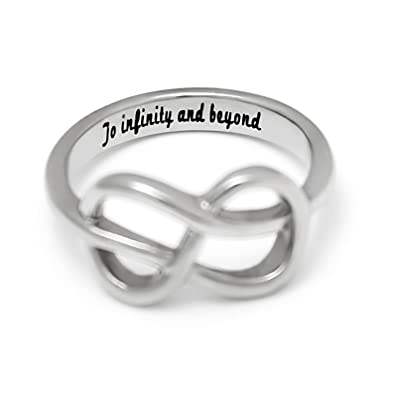 Amazon Com Infinity Ring For Girlfriend Of Boyfriend Promise Ring