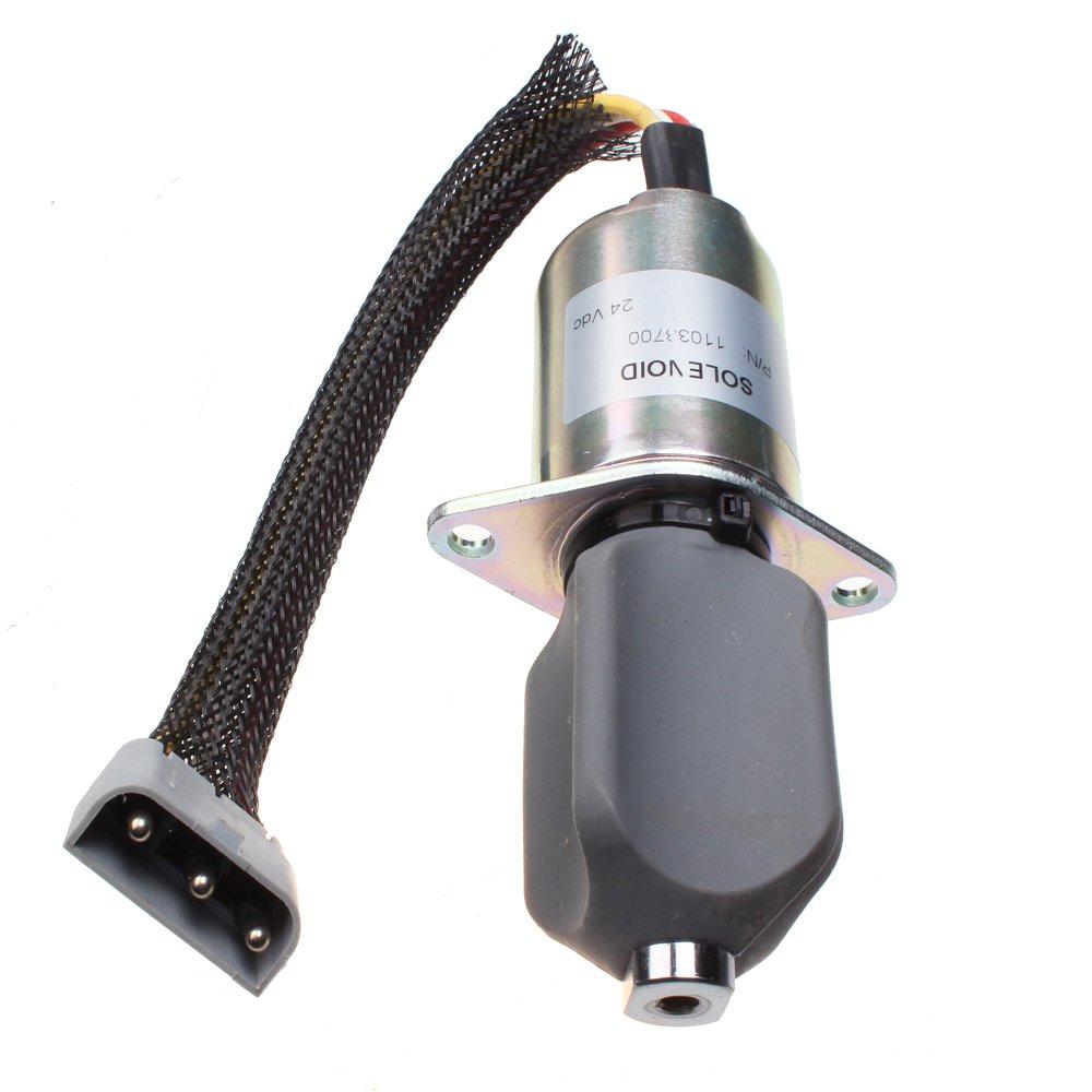 Mover Parts Fuel Stop Solenoid VOE 11033700 24V for Volvo Wheel Loaders L70C L330C L70B