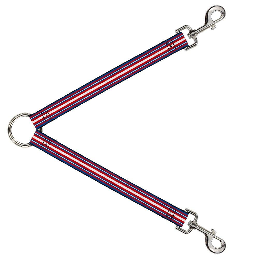 Buckle-Down DLS-W37142 Leash Splitter-Striped bluee Red White, 1  W-30  L