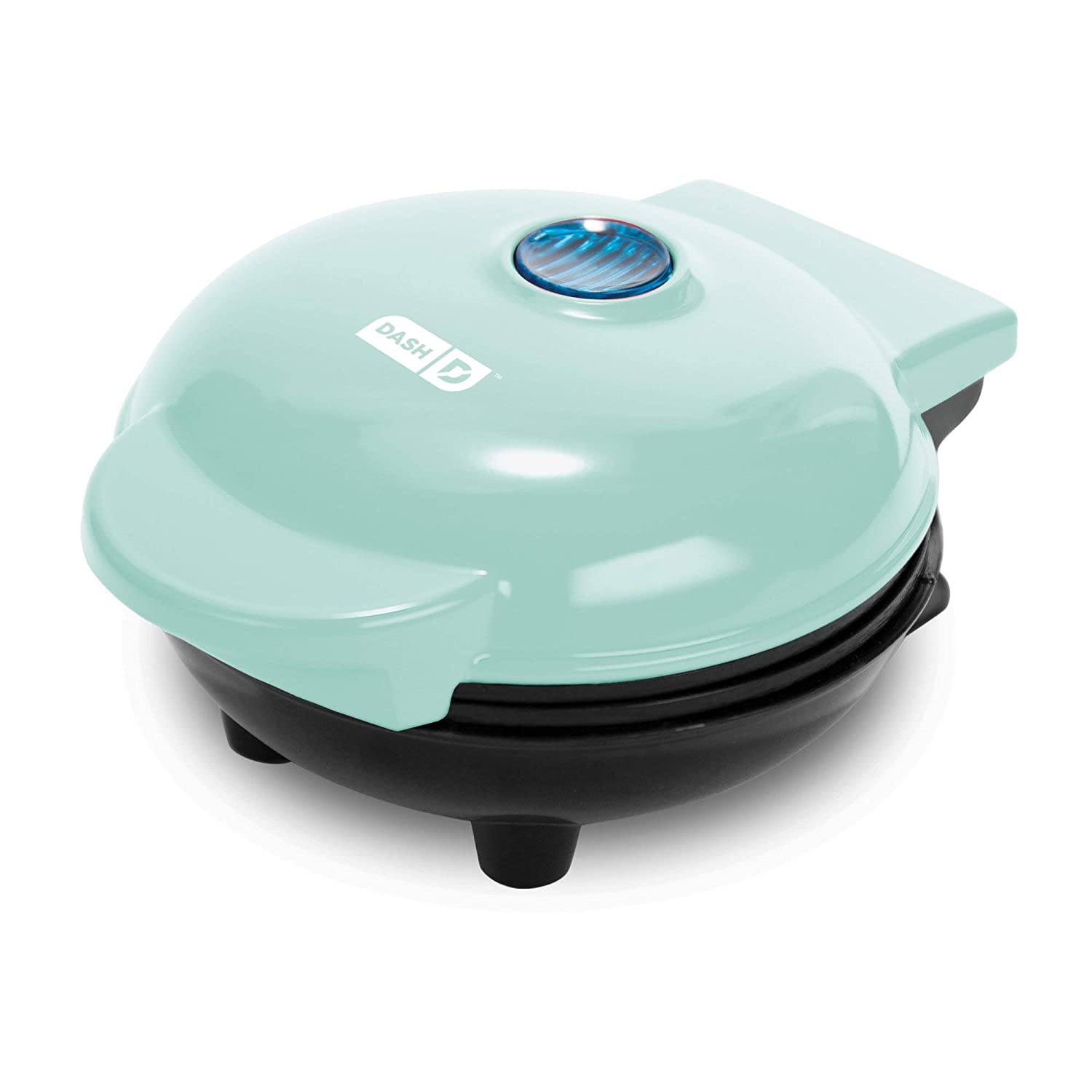 Dash Mini Maker The Mini Waffle Maker Machine for Individual Waffles, Paninis, Hash browns, other on the go Breakfast, Lunch, or Snacks – Aqua Renewed