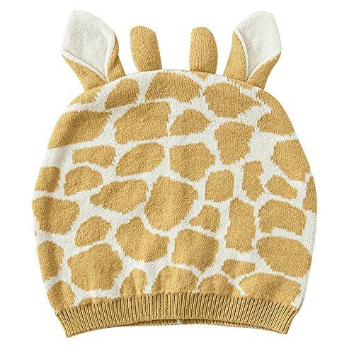 E.mirreh Baby Toddler Children Cotton Knit Beanie Winter Warm Hat Unisex Giraffe for 12-24 - Oversized Giraffe