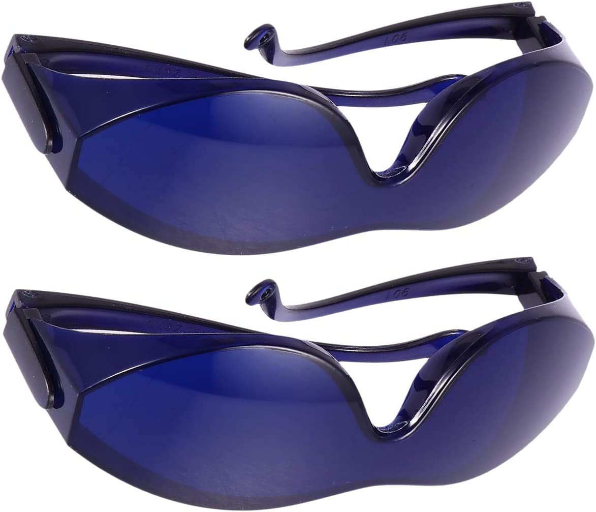 Blue Artibetter 2Pcs Protective Glasses Goggle IPL Hair Removal Device Eyeglasses Dust-Proof Safety Glasses for Face Body Bikini Underarms Home Use