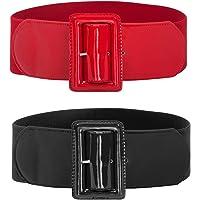 Hanna Nikole Women Elastic Stretchy Retro Wide Waist Cinch Belts