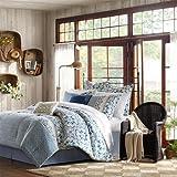 Harbor House Haven 4-Piece Comforter Set, California King, Blue