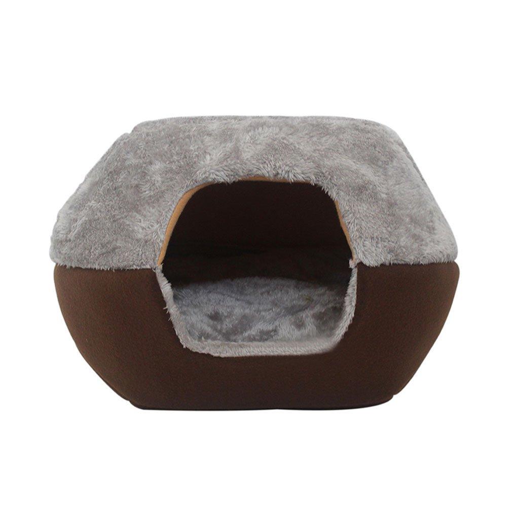 A 453832cm A 453832cm Jia He pet bed Cat Sleeping Bag Pet Bed Pet Closed Bed Small Pet Sleeping Pad Cat House Keep Warm Pet Supplies (color   A, Size   45  38  32cm)
