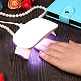 Nail Lamp, Professional UV LED Nail Dryer Curing Lamp Gel Polish Dryer for finger and Toe, Low Heat Mode, White, Pink(Pink)