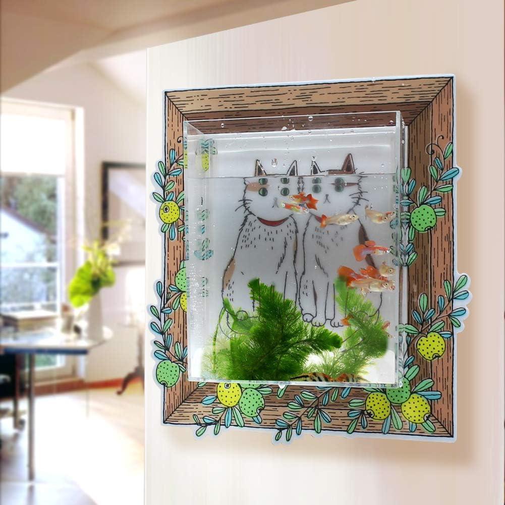 D&C home store Betta Fish Aquariums, Wall Hanging Fish Tank Acrylic Kitchen Wall décor