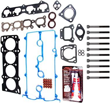 cciyu Engine Head Gasket Bolts Kit Replacement fit for 00-03 Mazda Protege5 Mazda 626 Mazda Protege HS26194PT