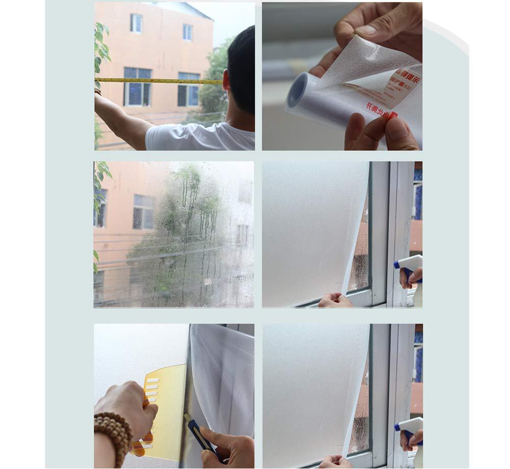 DENG/&JQ Ombrage Sticker Verre Chambre Toilette Opacit avec Vitrophanie Film De Vitrage Verre Auto-adh/ésif Givr/é Anti-UV-a 45x60cm 18x24inch