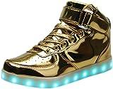 LED Light Up Hi-Top Shoes 11 Color Patterns, USB