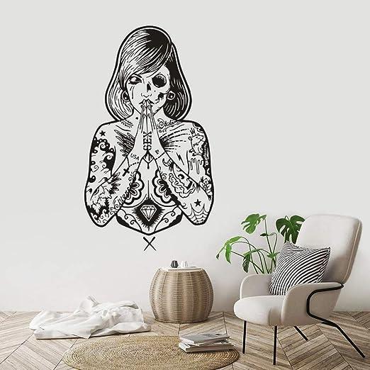 zqyjhkou Tattoo Studio Vinyl Wall Sticker Creative Tattoo Girls ...