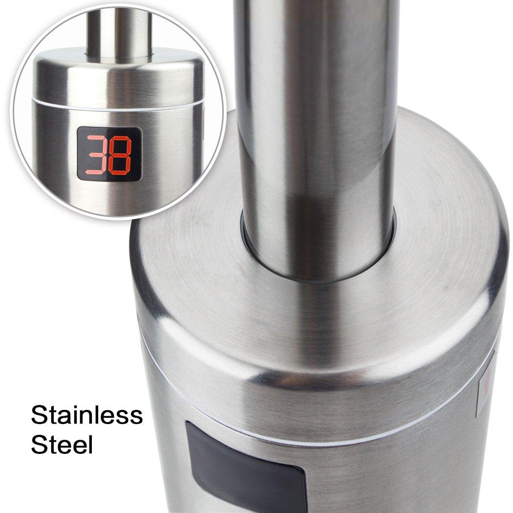 Pudin(EU Estándar) 360 ° rotación 220V instantáneos calentadores de paso eléctrico seguridad agua calentador bajo entrada grifo de agua caliente con LED ...