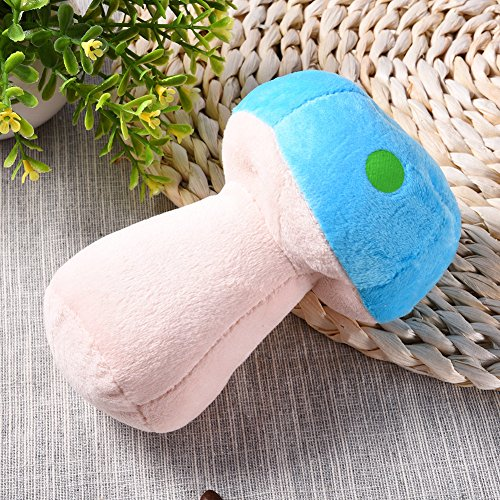 70%OFF Pet Dog Plush Toys Soft Colorful Plush Mushroom Shaped With Soundr Built-in Chewing Toys Teeth Grinding for Small Dogs Cats
