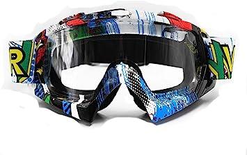 Farbige Linsen Skibrille Snowboard Brille Anti-Kratz Winddicht Motorradbrillen Motocross Brille Maske Enduro UV-Schutz