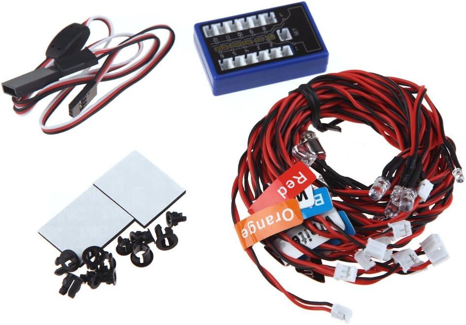 Globact New Highlight 12 LED Flashing Light System for RC Cars G.T.Power Smart PPM//FM//FS 2.4G Trucks 1//10th Scale Smaller Part Smart Flashing Light