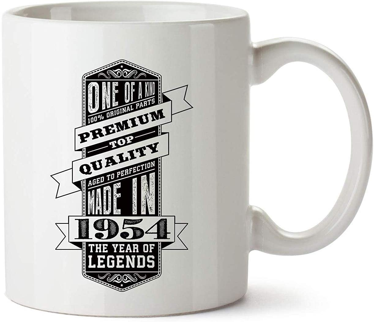 WYYCLD 60th Birthday Gifts for Women Men - One of a Kind 1954 Funny Mugs Novelty Presents
