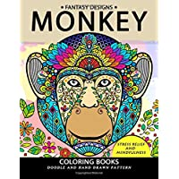 Monkey Coloring Book: Stress-relief Coloring Book For Grown-ups