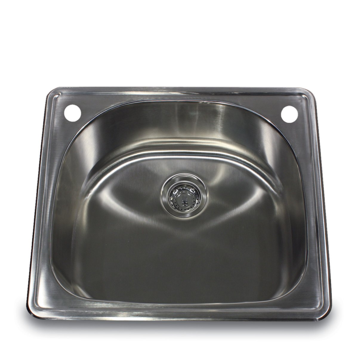Charmant Nantucket Sinks NS2522 D 25 Inch 18 Gauge D Bowl Single Bowl Self Rimming  Drop In Kitchen Sink, Stainless Steel     Amazon.com