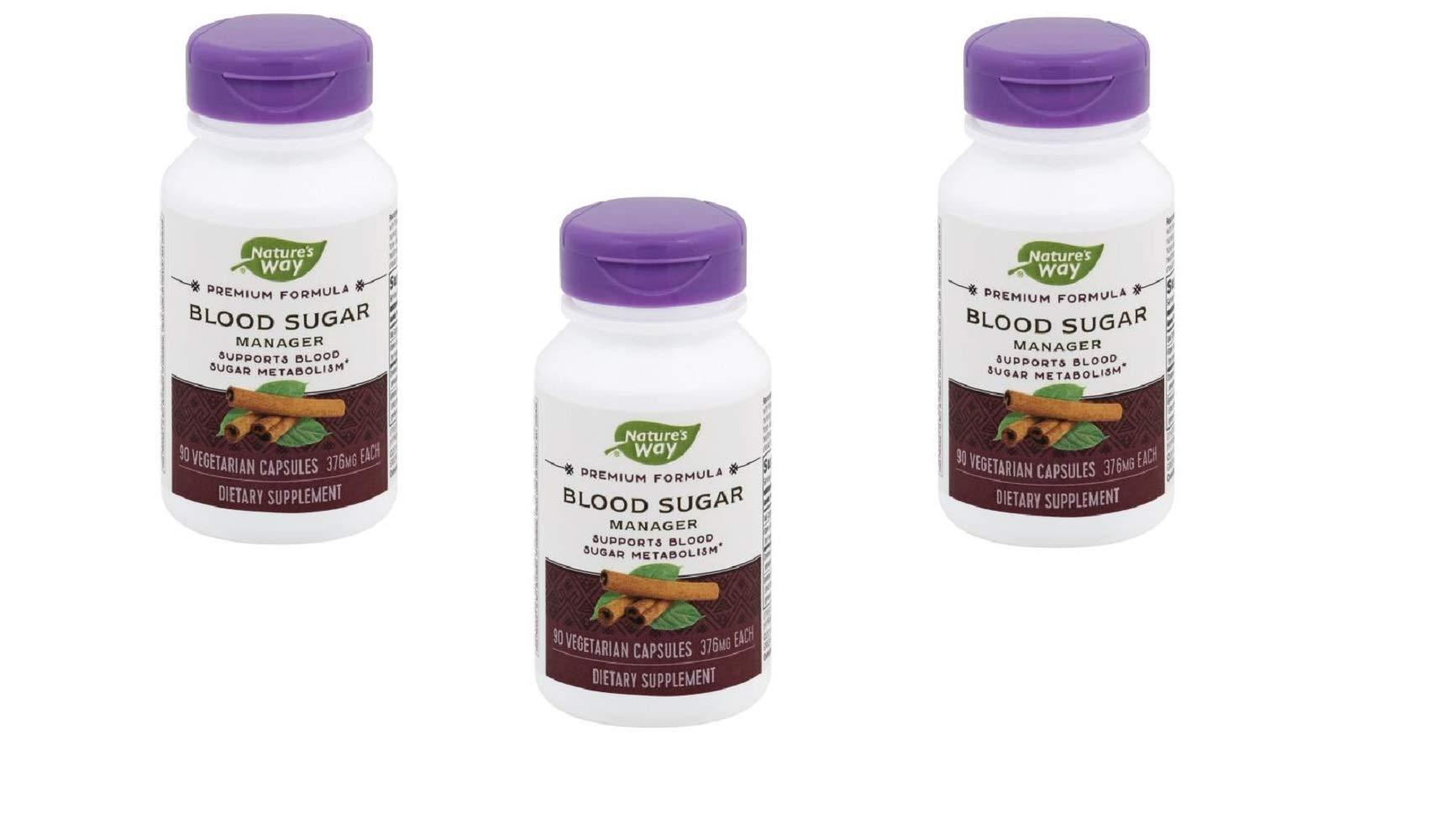 Natures Way Blood Sugar with Gymnema Capsule, 381 Mg - 90 per pack - 3 packs per case.