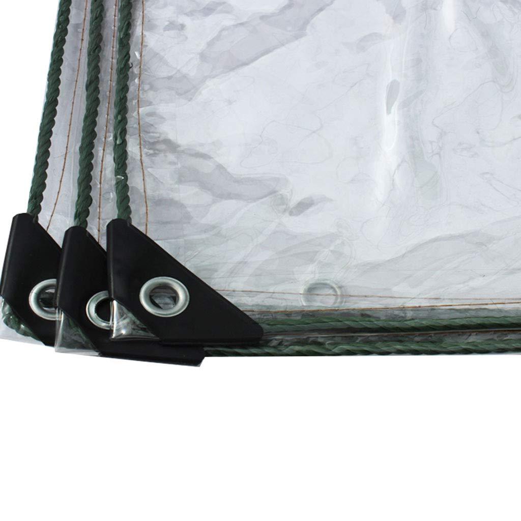 Transparente Plane abdeckplanen wasserdicht mit ösen für Dach, Camping, Outdoor, Terrasse, Kunststofffolienkante wasserdichtes Tuch, Hitze- und Winddichte Kaltversiegelung