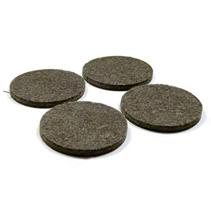 Ajile 72 Pcs Round Adhesive Felt Pad 24 mm Diameter Brown for Chair Leg (2 Sheets of 36) Floor Protection for Wooden Floor Round Stick-on Furniture Slide Glide PAR824