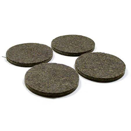 ajile 16 Pcs Round Adhesive Felt Pads 50 mm Diameter Brown for Chair Leg (2 Sheets of 8) Floor Protection for Wooden Floor Round Stick-on Furniture Slide Glide PAR850x16-FBA s