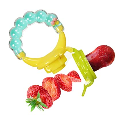 Alimentador de alimentos para bebés/comedero de fruta ...