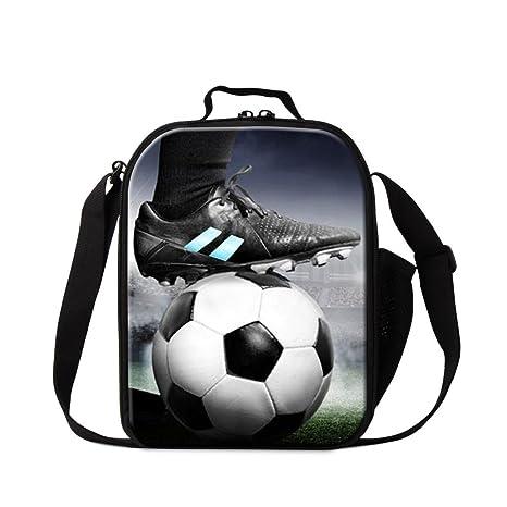 f4aebf9e5f49 Amazon.com: Generic Soccer Lunch Bag for Boys Kids Mini Cooler Bag ...