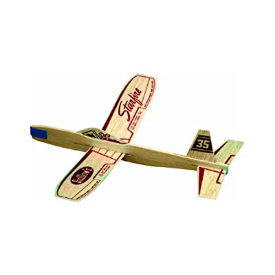 Guillow Lot of 12 35 Starfire Balsa Wood Flying Toy Airplanes GUI-35-12: Toys & Games