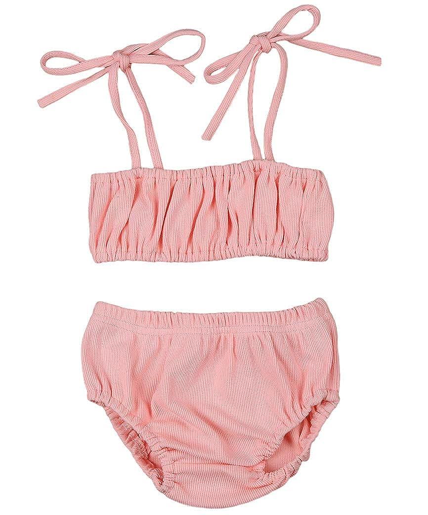 Balaflyie Newborn Baby Girs Strap Sling Shirt Tank Top Blouse Drawstring Shorts Summer Clothes Outfits