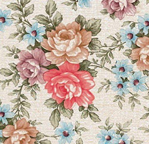 Klebefolie Möbelfolie bunte Blumen 45 cm x 200 cm Dekorfolie Bastelfolie