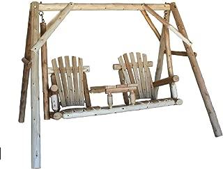 product image for Lakeland Mills CFU19 5 Foot Cedar Log Tete-A-Tete Swing - Natural