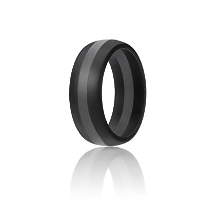 Rubber Band Wedding Rings >> Amazon Com Roq Silicone Wedding Ring For Men 7 Pack 4 Pack