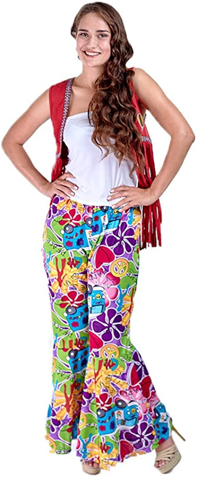 Charm Rainbow Disfraz de Hippie Años 60s para Mujer: Amazon.es ...
