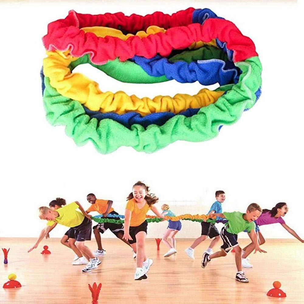 Requisite F/ür Gruppenaktivit/äten Fitnessstudio Schule Kreative Bewegung Dynamische Integrationen Dehnbar Mit Gummi-Gurt /Übungen Und Sport 2//2.4//3m Volwco Elastisches Kooperationsband