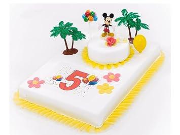 Tortendeko 5 Geburtstag Mickey Mouse 11 Teilig Tortenaufleger Kuchen